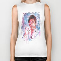 montana Biker Tanks featuring Tony montana by Zinaraad