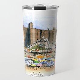 Coney Island on the Fourth of July Travel Mug