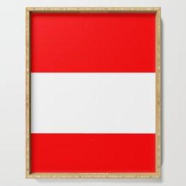 flag of austria 3 -,Österreich,Austrian,Österreicher,Vienna,Salzburg,Mozart, Schoenberg Serving Tray