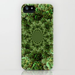 SEA FOAM FROTHY BLUE-GREEN SUCCULENTS iPhone Case