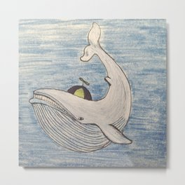 Wayward Whale Metal Print