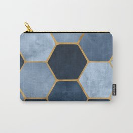 Winter Palace / blue and gold geometric design Carry-All Pouch