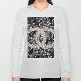 Night sky and cats 124 Long Sleeve T-shirt
