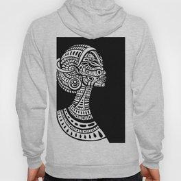 Black & White Regal Black Woman Hoody