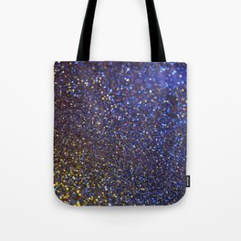 Blue and Gold Sparkles Tote Bag
