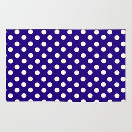 Polka Dot Party in Blue and White Rug