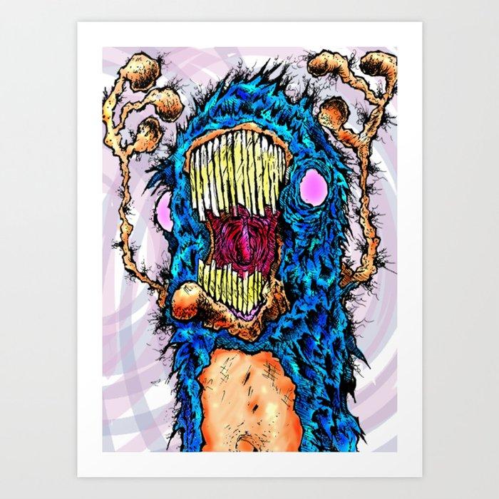 Screaming Yeti Art Print