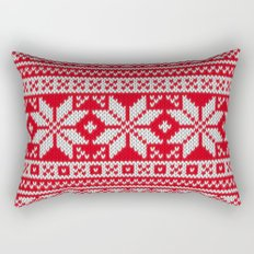 Winter knitted pattern 3 Rectangular Pillow