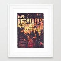 sopranos Framed Art Prints featuring The Sopranos (in memory of James Gandolfini)2 by Nechifor Ionut