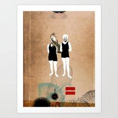 Swimmers Art Print
