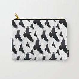 Raven Silhouette Carry-All Pouch