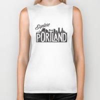 portland Biker Tanks featuring Explore Portland by cabin supply co