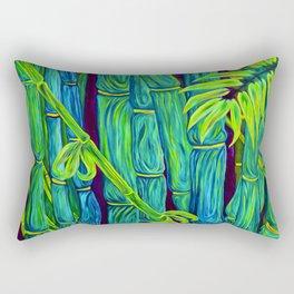 ʻOhe Polū - Blue Bamboo Rectangular Pillow