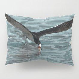 Hungry Black Skimmer Ocean Bird Pillow Sham