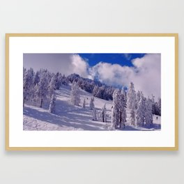 Oregon Winter Scenery Framed Art Print
