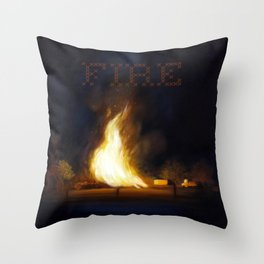 Bonfire at the Drift Throw Pillow