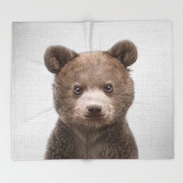 Baby Bear - Colorful Throw Blanket