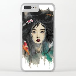 In the water Clear iPhone Case