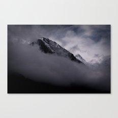 mountain peak in clouds Canvas Print