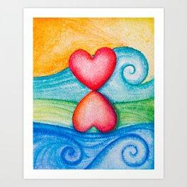 Balances on the wave Art Print