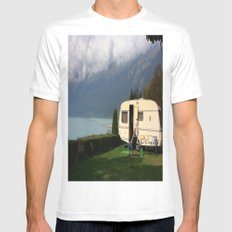 Alpine Lounging MEDIUM White Mens Fitted Tee