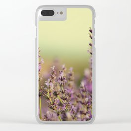 lavender field Clear iPhone Case