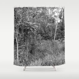 The Forest in Monochrome Shower Curtain