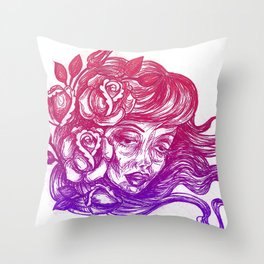 cheeks and roses Throw Pillow