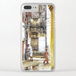 Lifestyle in StoneTown Zanzibar Tanzania 3618 Clear iPhone Case