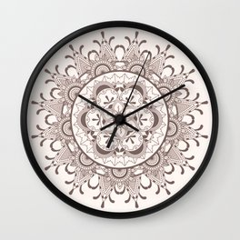 Mandala chocolate Wall Clock