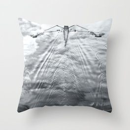 Rowing on a River of Clouds Throw Pillow