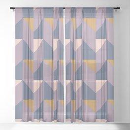 Midnight Geometric Sheer Curtain