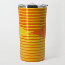 Yellow stripes and balls ... Travel Mug
