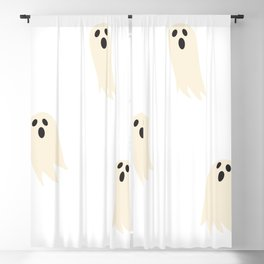 Ghosts - Cream Blackout Curtain