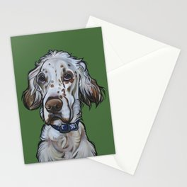 Ollie the English Setter Stationery Cards