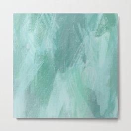 Abstract Seafoam - Oil Pastels Metal Print