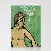 kevin russ Stationery Cards featuring Kevin Discovery by K. Fry Illustration
