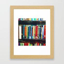 The Bookshelves Framed Art Print
