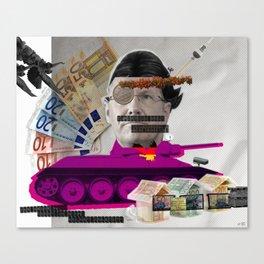 Der Bundespräsident kämpft für Gerechtigkeit... Canvas Print