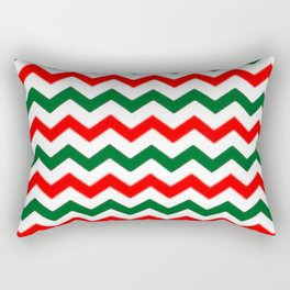 Modern red green white Christmas chevron pattern Rectangular Pillow