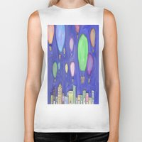 hot air balloons Biker Tanks featuring hot air balloons by Kaylabeaisaflea
