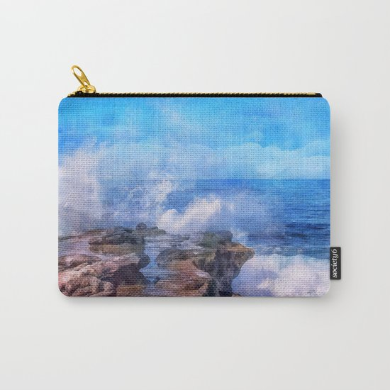 Pacific surf in California Carry-All Pouch