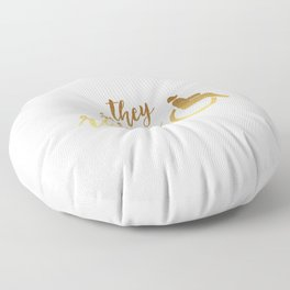 They See Me Rollin' White Floor Pillow