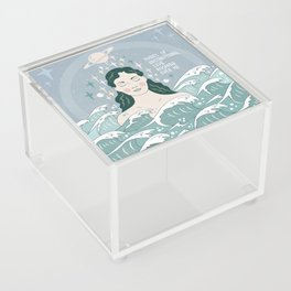 Waves of unconditional love washing over me Acrylic Box