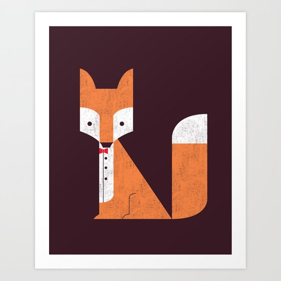 Le Sly Fox Art Print