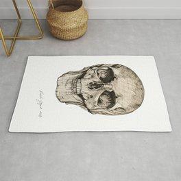 Human Skull En Face Rug