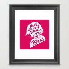 Will of Team 7 [Red] Framed Art Print