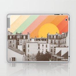 Rainbow Sky Above Paris Laptop & iPad Skin