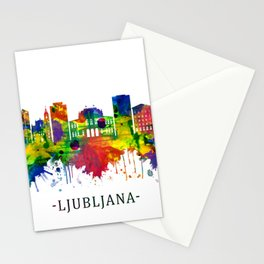 Ljubljana Slovenia Skyline Stationery Cards