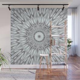 Gray Kaleidoscope Wall Mural